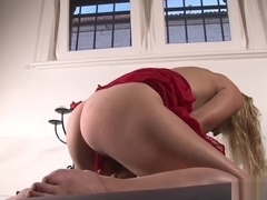 Skinny amateur blonde toying herself to an orgasm