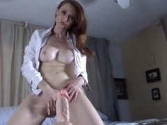 English Milf Riding Dildo