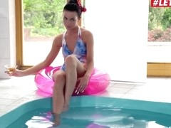 Inga Devil Slutty Ukrainian Seduces And Fucks Muscular Guy By The Pool