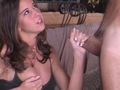 Playgirl Brooke Haven giving a cook jerking