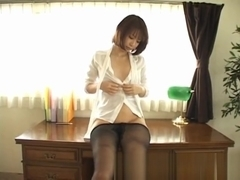 Beautiful rin in sexy office outfit part4