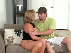 A bodied fat bitch Ellie fucks with handsome Preston Parker