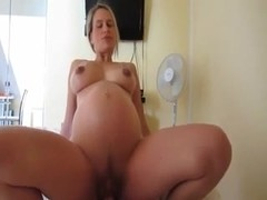 9 month pregnant supertitted mommy