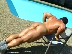 Carl Hardwick Bear Solo ( Muscle Jerk Off & Cum )