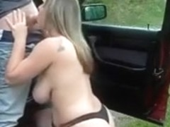 Fucked from behind by a long cock