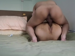 Lunch time cum inside the Priest's ass