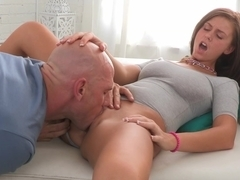Young Whitney taking big cock
