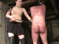 Slave endures a sadistic whipping