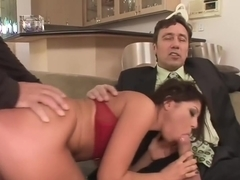 Britney Stevens DPed By 2 Huge Cocks