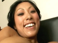Beautiful Asian Pussy Sucking Big Cock