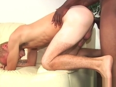 A shy twink and a black dude sucking off each other