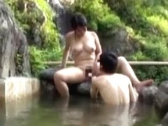 Juvenile busty hotty gets wet outdoors and recieves hard cock