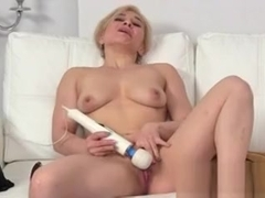 Blonde masturbates in casting interview