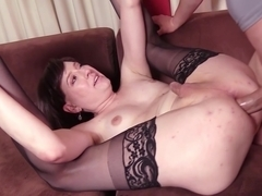 mature Crossdressers suck And plow