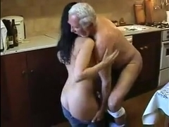 Old man ravages younger woman