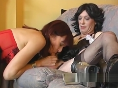 Cross dresser photo fun with a tight MILF