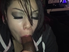 Cute Emo Goth Teen Sucks BBC Until She Dies
