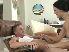 Violet Marcelle got fucked after blowjob