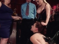 John Strong & Aiden Starr & Audrey Holiday in Latex Slave Girl Anally Debased By Dick Hungry Gover.