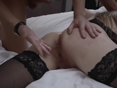 Blonde hottie dominated and analyzed by strict friend