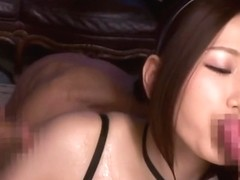 Godly buxomy asian young tart Ai Sayama is getting a nice cumshot