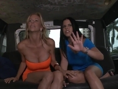 Double blowjob provided by Alexis Fawx and Diamond Kitty