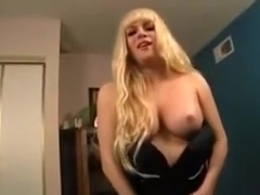 Hottest Homemade Shemale record with Masturbation, Big Tits scenes
