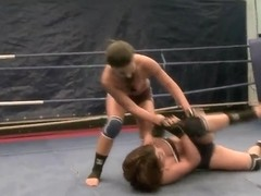 Bellina and Rihanna Samuel do nude grappling