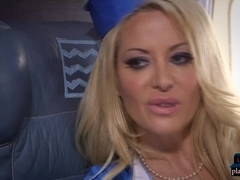 Big tits stewardess joins mile high club