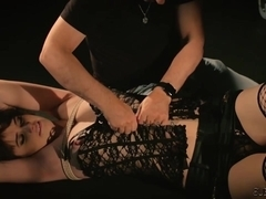 Tickling nightmare for submissive slut