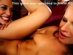 Latina lesbo eats box