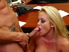 Mia Lelani - a real blonde slut in the office