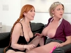 Teen babe licked by her milf teachers
