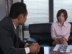 Hot milf teacher Saki Okuda gets hard doggy style fucking