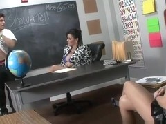 Ms. Castro's Footjob Show and Tell