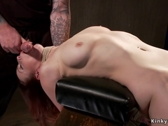 Master rough fucks babe in stock