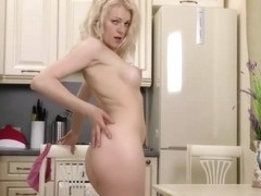 HOT BLONDE LEFT HOME ALONE WITH SOME TOYS ANAL