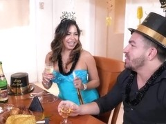 Big ass woman is eager to get banged during her birthday party, until she gets completely satisfied