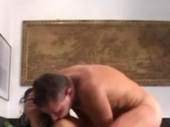 Naughty Italian mom doing anal and getting facialized