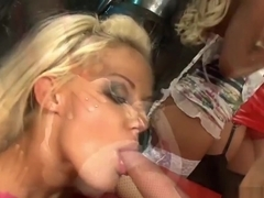 Reverse Gangbang Session With Stunning Starlets