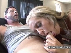 Blonde cutie Madelyn Monroe gets her tight twat stuffed