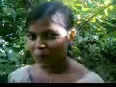 Desi Village Girl Screwed in Jungle Twice