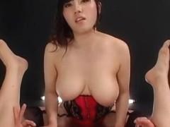 Hottest Japanese girl Ryoko Murakami, Maya Sawamura, Mari Hosokawa in Exotic Group Sex, Office JAV.