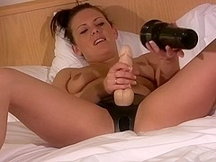 Amazing solo girl clip with strapon, handjob, fetish scenes