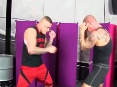 Hot Muscle Guys Fuck Horny Blonde And Eachother