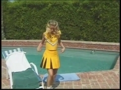 Ashley fucked hard by the pool