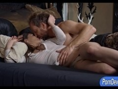 Big natural tits Molly Jane screwed hard by huge cock