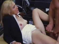 Blonde milf pawns her pussy and screwed