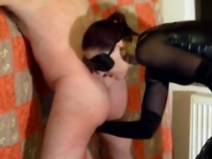 Nice whipping ball gagged slave in bondage