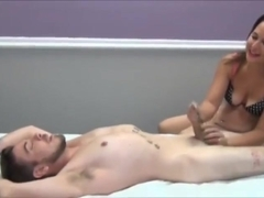 Evil Tickling and Handjob by Angel